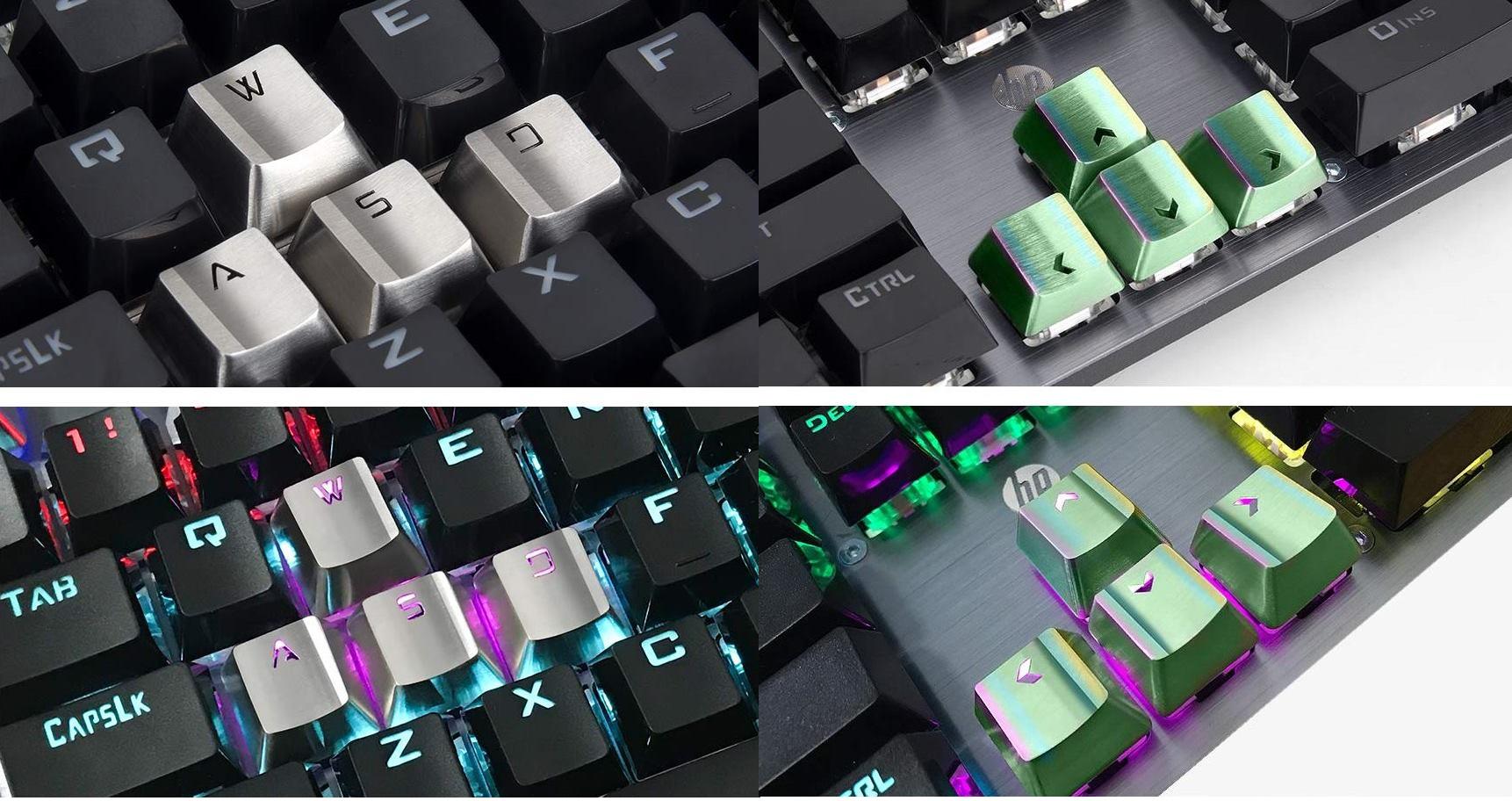 Metalowe klawisze