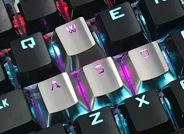 Metalowe klawisze WSAD