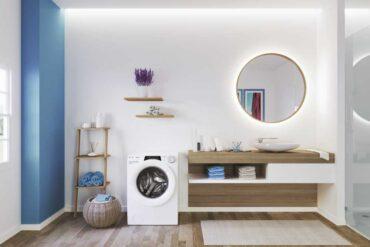 łazienka z pralką Candy RapidO